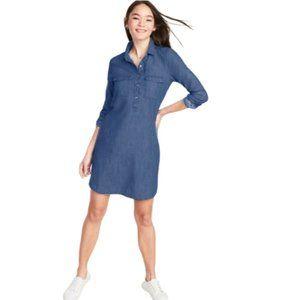 Old Navy Chambray Utility Shirt Dress - Size XL